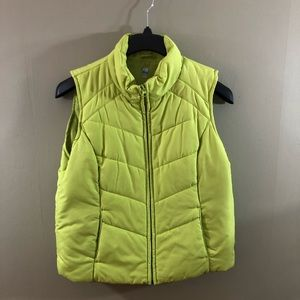 Lime Green SJB Active Puff Vest - L